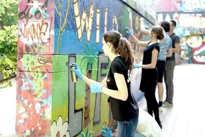 Atelier de Graffiti Mural Street Art EVJF