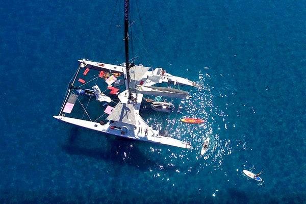 Croisiere catamaran privé Golfe Saint Tropez - EVG France