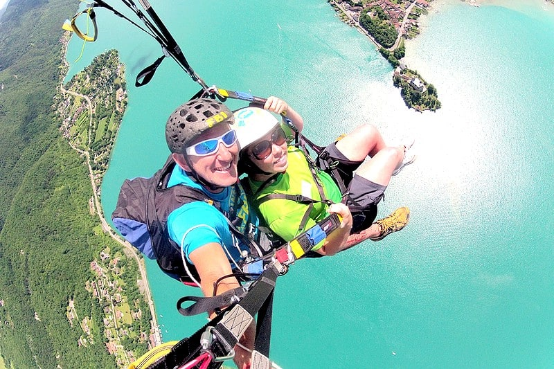 Activites originales Lac d'Annecy - vol parapente optimum longue duree