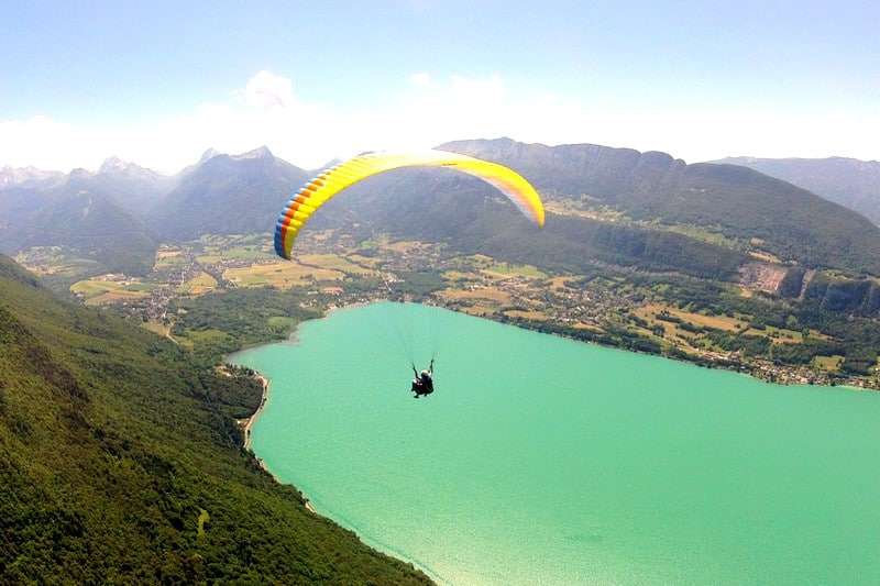 Activites originales Lac d'Annecy - vol parapente panoramique couple famille