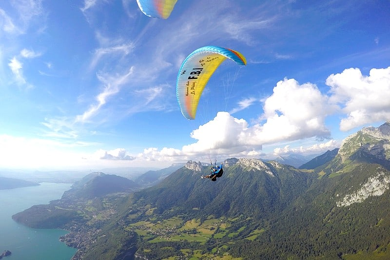 Activites originales Lac d'Annecy - vol parapente prestige evg evjf