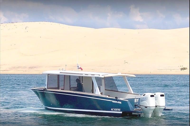 Balade bateau vedette Pyla Bassin d'arcachon