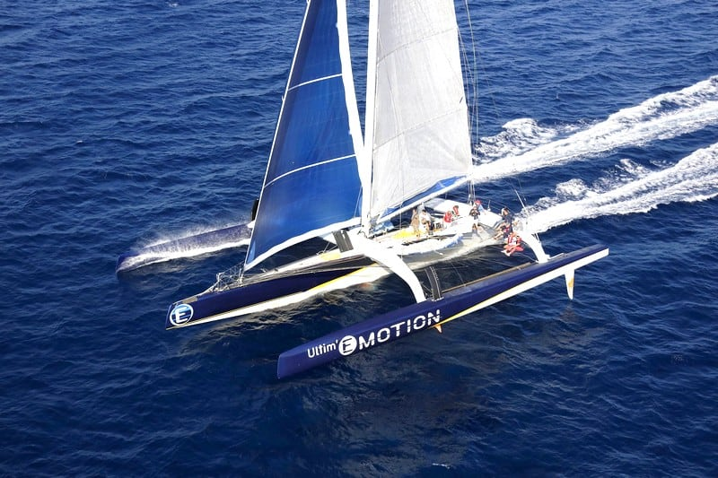 Sortie Trimaran de course Grand Large Emotion - Gitana 11