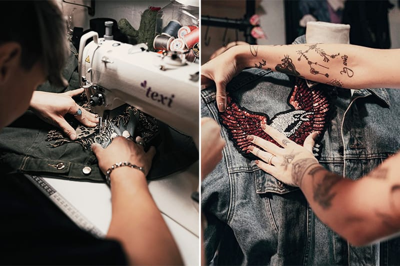 Atelier diy mode paris - veste en jean creation - atelier creatif stylisme