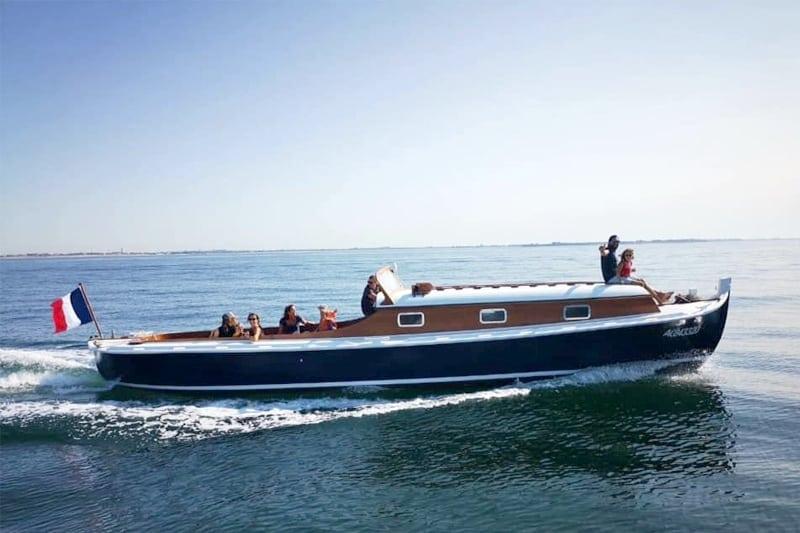 croisiere privee pinasse bateau la rochelle groupe famille 12 personnes boyard ile de re
