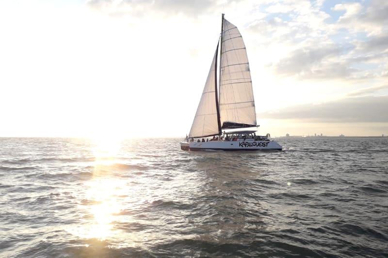 croisiere privee voilier bateau la rochelle maxi catamaran groupe entreprise 25 personnes boyard ile de re