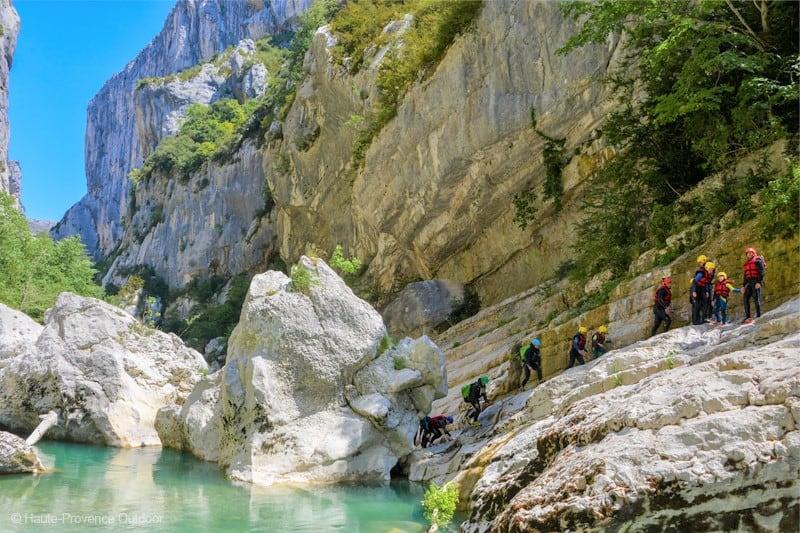 randonnee aquatique castellane gorges du verdon provence guide prive evg evjf