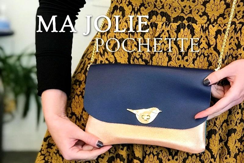 Tidden - atelier diy bordeaux creation fabrication pochette en cuir mariage maroquinerie