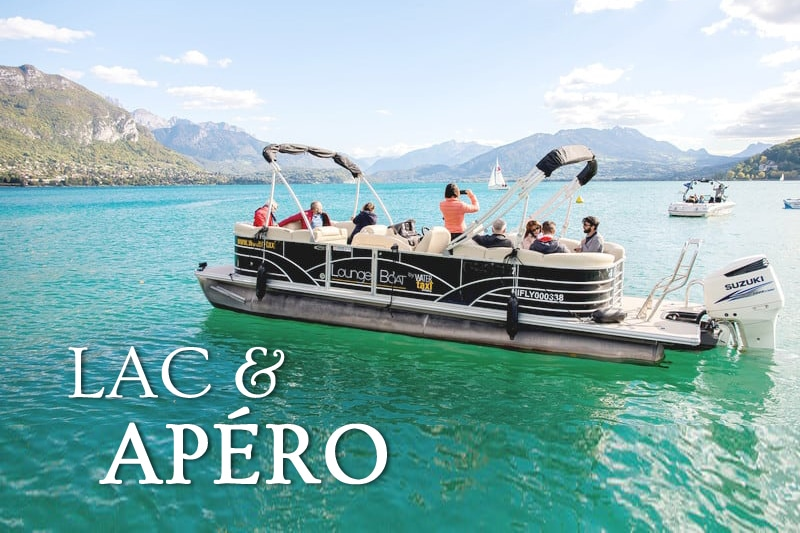 Tidden - croisiere privee bateau lac annecy aperitif bateau ponton salon