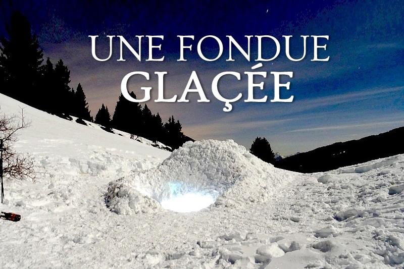 Tidden - soiree fondue alpes megeve dans un igloo