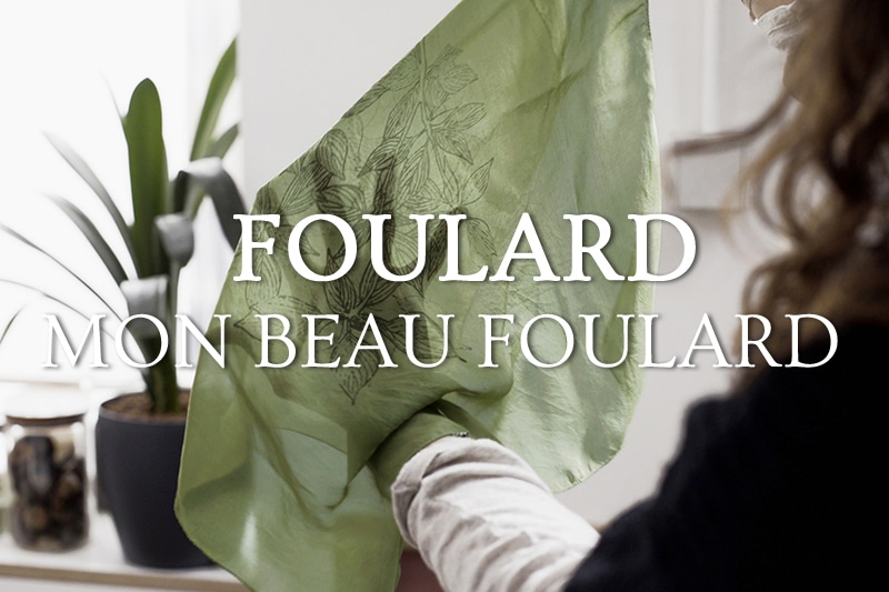 Tidden - atelier diy paris creation foulard carre soie teinture vegetale
