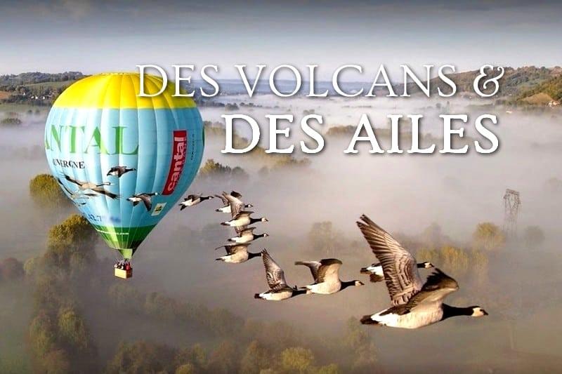 Tidden - vol montgolfiere avec les oiseaux saint flour cantal auvergne volcan