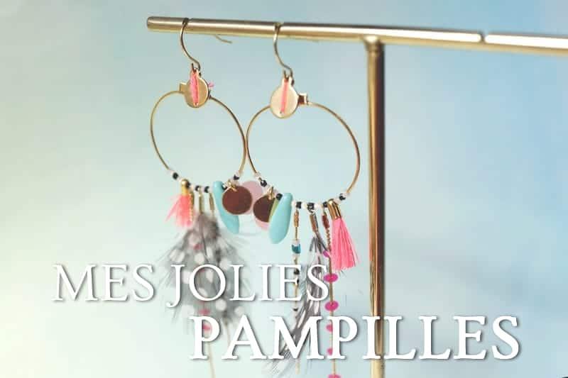 Tidden - atelier diy bijouterie creation fabircation bijou boucles oreilles pampilles creoles tombantes