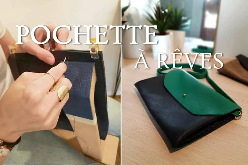 Tidden - atelier diy fabrication creation de pochette cuir annecy geneve