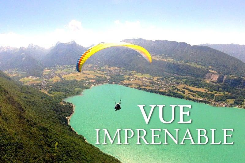 Tidden - vol parapente panoramique lac annecy forclaz